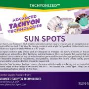 LARGE Tachyonized Sun Spots Set of 4
