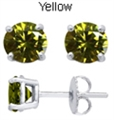 5mm Tachyonized Yellow Steriling Silver Earrings