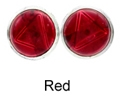 8mm Tachyonized Sterlink Silver Earrings Red Studs - thin bezel