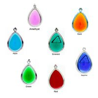 Collection of Tachyon Framed Teardrop Pendant Set in Silver
