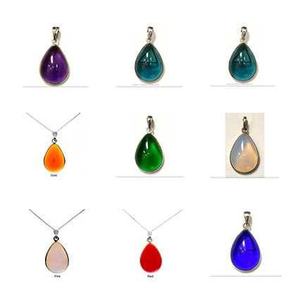 Collection of Tachyon Unframed Teardrop Pendant Set in Silver