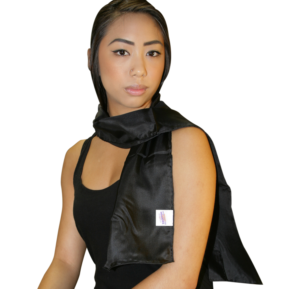 Tachyonized Silk Scarf 45 - Black