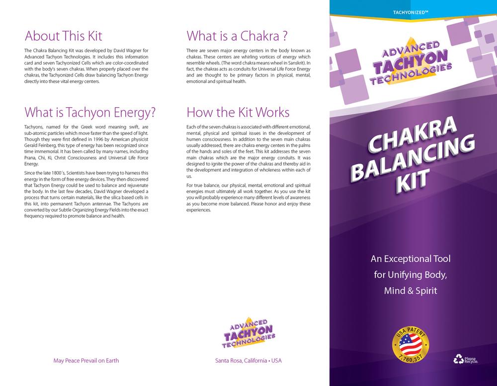 Tachyonized Chakra Balancing Kit - Package Directions