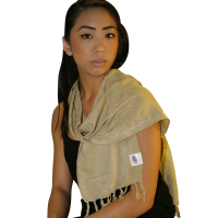 Tachyonized Rayon Scarf - Camel
