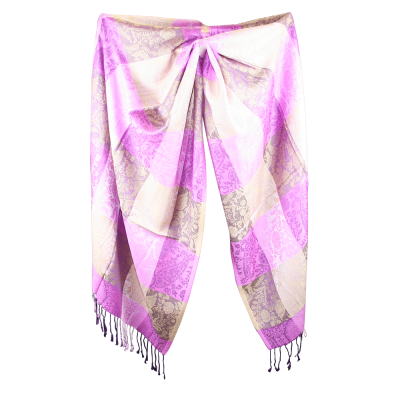 Silk and Pashmina - Meditation Wrap-TWM-P11