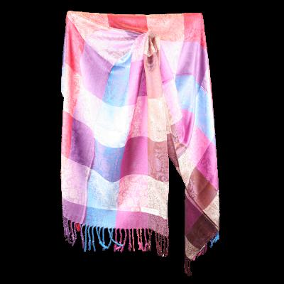 Silk and Pashmina - Meditation Wrap-TWM-P12