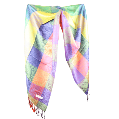 Silk and Pashmina - Meditation Wrap-TWM-P13