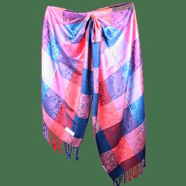 Silk and Pashmina - Meditation Wrap-TWM-P2