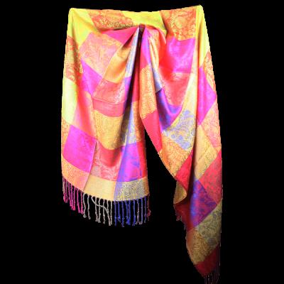 Silk and Pashmina - Meditation Wrap-TWM-P5
