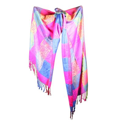 Silk and Pashmina - Meditation Wrap-TWM-P8