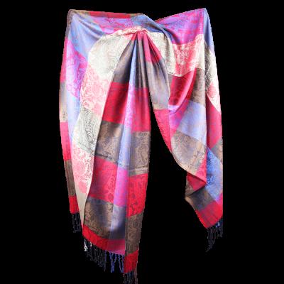 Silk and Pashmina - Meditation Wrap-TWM-P9