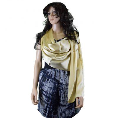 Tachyonized Pure Satin Silk Elegance Scarf - Camel