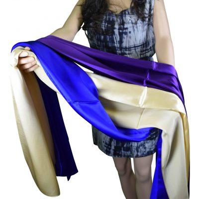 Tachyonized Pure Satin Silk Elegance Scarf