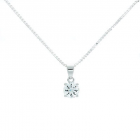 Delight Clear CZ Tachyon Pendant Set in Silver