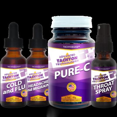 Tachyon Fever-Headache-Throat and Sinus Virus Kit