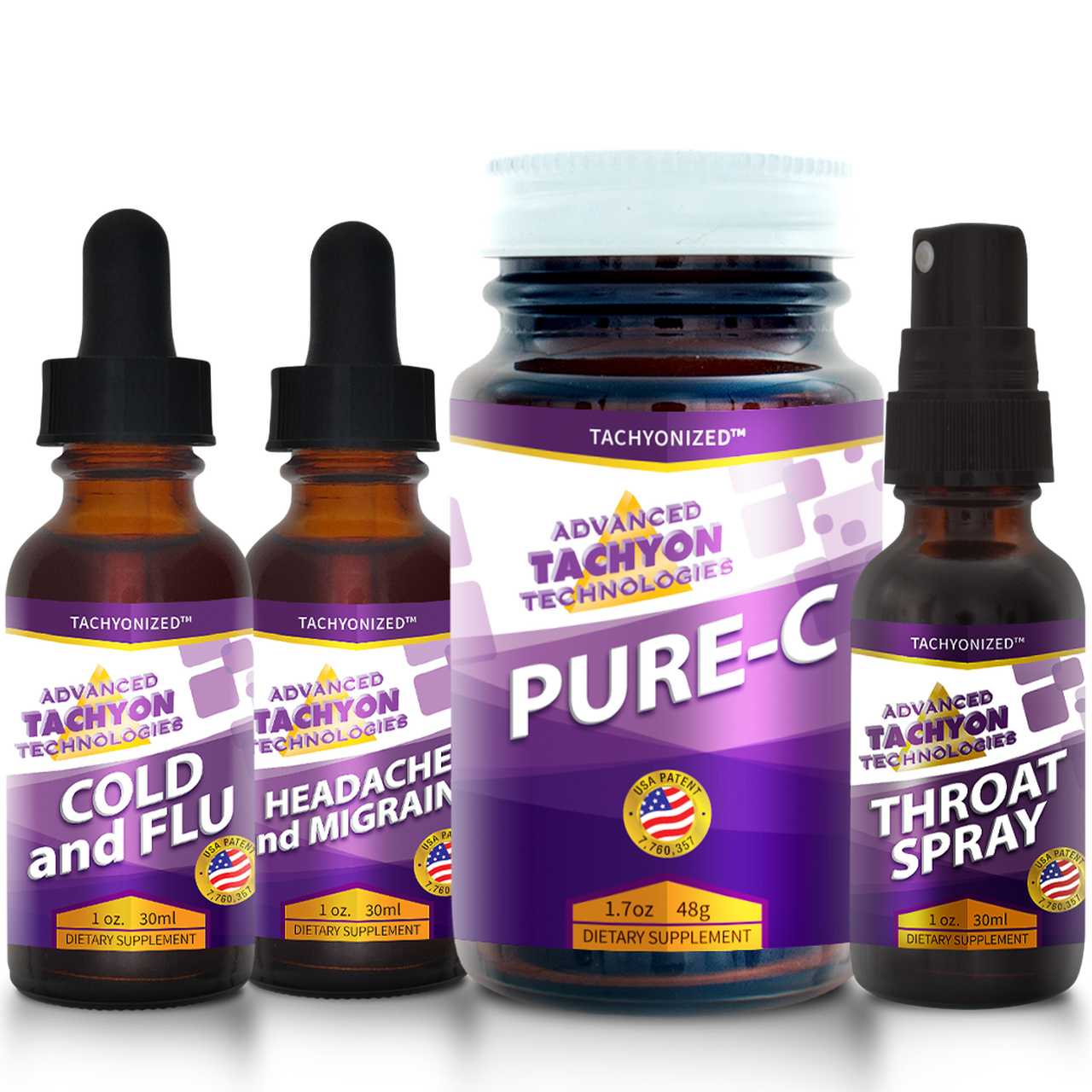 Tachyon Fever-Headache-Throat and Sinus Virus Kit