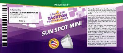 Tachyon SUN SPOT LABLE